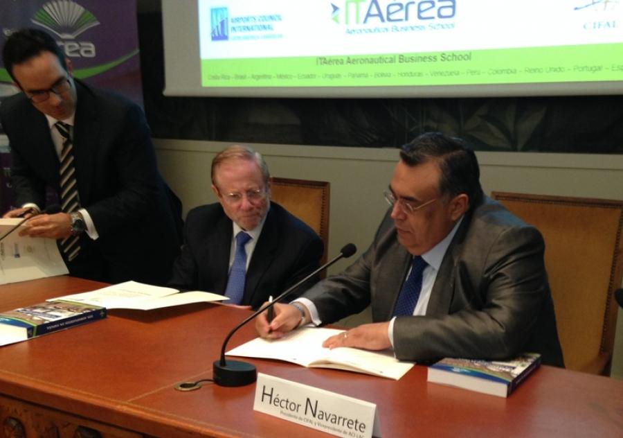 Cobertura de firma de convenio desde Madrid, España